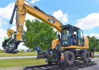 Rubber Tired Excavator - Friction Drive  Rail Gear Systems