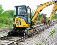 Hydraulic Excavator - Non-Driving Rail Gear Systems